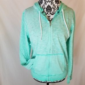 PINK Victoria's Secret ~ Lightweight Green Hoodie